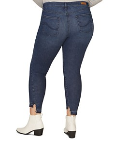 Sanctuary Curve - Social Standard Step-Hem Skinny Ankle Jeans in Elysian Blue