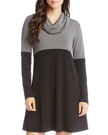 Karen Kane - Color Block Cowl Neck Dress