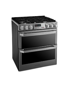 LG SIGNATURE - SIGNATURE Smart Wi-Fi-Enabled Dual Fuel Double Oven Range with ProBake Convection® LUTD4919SN