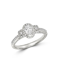 Bloomingdale's - Diamond Oval-Center Engagement Ring in 14K White Gold, 1.0 ct. t.w. - 100% Exclusive
