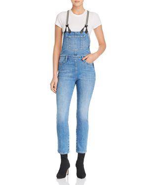 Le Suspender Straight-Leg Denim Overalls in Roadies