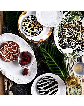 VIETRI - Into The Jungle Animal Skin Canape Plates, Set of 4 - 100% Exclusive
