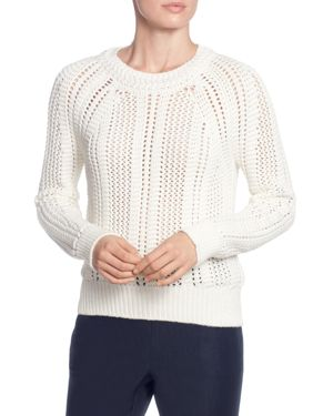 T Tahari Open-Work Sweater