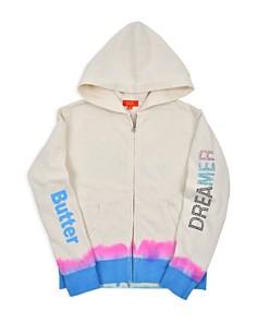 Butter - Girls' Fleece Dip-Dye Embellished Dreamer Hoodie - Little Kid, Big Kid