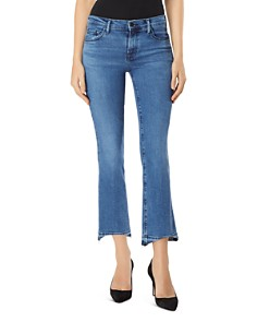 J Brand - Selena Mid Rise Crop Bootcut Jeans in Earthy