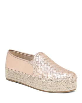 Sam Edelman - Women's Catherine Woven Metallic Leather Platform Espadrilles
