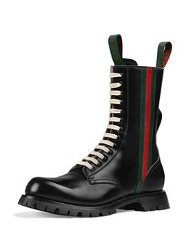Gucci - Men's Leather Lace-Up Boots