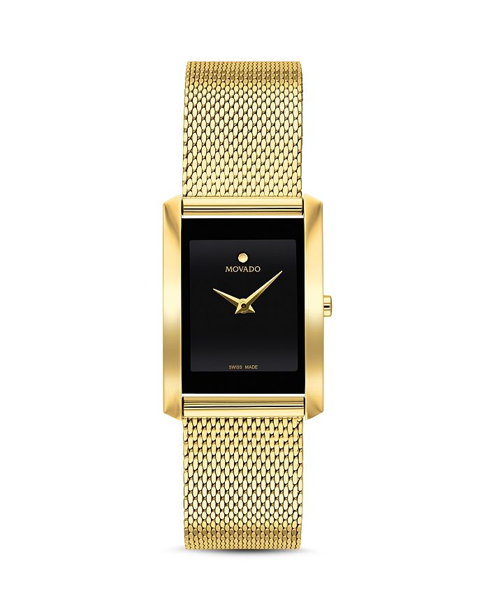 Movado - La Nouvelle Gold-Tone Mesh Watch, 21mm x 29mm