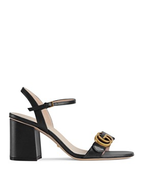 Gucci - Women's Leather Mid Heel Sandals