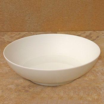 """JL Coquet - J•L Coquet """"Hemisphere"""" White Soup Bowl, Large"""