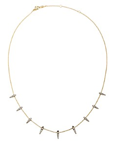 """Nadri - Como Shaky Necklace in 18K Gold-Plated Sterling Silver & Black Ruthenium-Plated Sterling Silver, 16"""""""