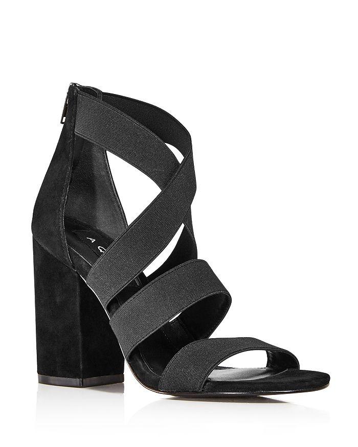 AQUA - Women's Frenz Strappy Block Heel Sandals - 100% Exclusive