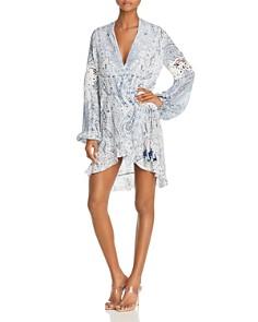 Rococo Sand - Paisley Print Faux-Wrap Dress