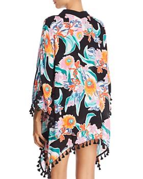 Trina Turk - Tropic Wave Kimono Swim Cover-Up, Bralette Bikini Top & Shirred Hipster Bikini Bottom
