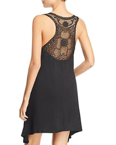 J. Valdi - Luxe Jersey Crochet-Racerback Swim Cover-Up