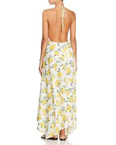 kate spade new york - Lemon Print Halter Maxi Dress Swim Cover-Up