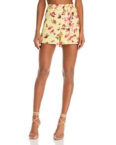 CAMI NYC - Claudia Floral-Print Silk Mini Shorts