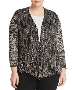 NIC and ZOE Plus - Fringe Hem Knit Jacket
