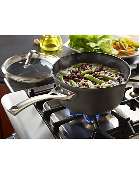 Calphalon - Contemporary Nonstick Strain-and-Pour 3.5-Quart Pan & Lid