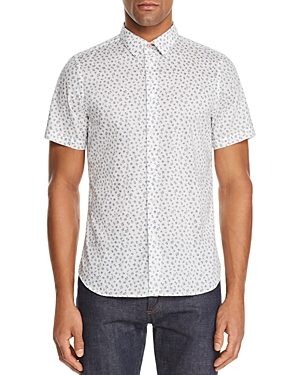 Ps Paul Smith Short-Sleeve Floral-Print Slim Fit Shirt