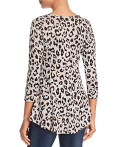B Collection by Bobeau - Leopard Print Tunic Sweater