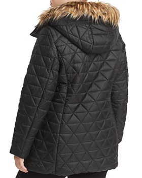 Marc New York Plus - Cypress Faux Fur Trim Puffer Coat