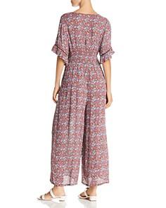AQUA - Smocked Floral Wide-Leg Jumpsuit - 100% Exclusive