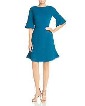 Betsey Johnson - Scuba Crepe Bell Sleeve Dress
