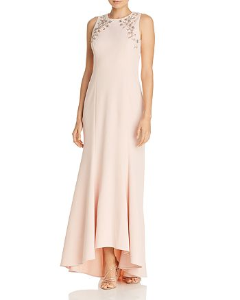 Eliza J - Embellished High/Low Mermaid Gown