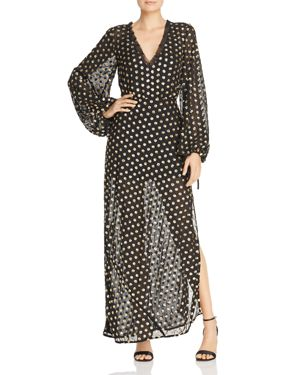 FINDERS KEEPERS Moonlight Sequined Polka-Dot Gown in Black