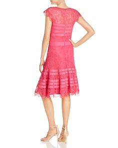 Tadashi Shoji - Striped Floral Lace A-Line Dress