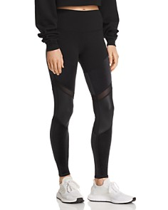 Alo Yoga - Sheila High-Rise Velour-Panel Leggings
