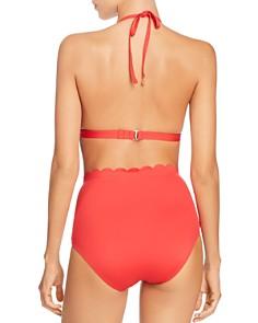 kate spade new york - Scalloped Triangle Cup Bikini Top & Scalloped High-Waist Bikini Bottom