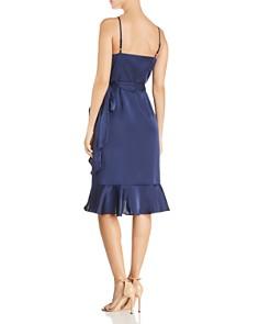 AQUA - Ruffled Satin Wrap Dress - 100% Exclusive