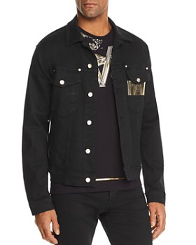 Versace Jeans - Metallic Logo-Print Denim Jacket
