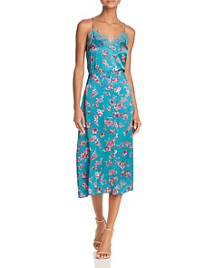 CAMI NYC - Annabelle Floral-Print Silk Midi Skirt