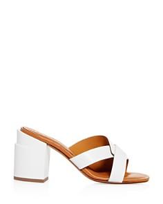 Clergerie - Women's Anna Block-Heel Slide Sandals