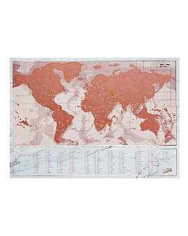 Luckies - Rose Gold Travel Edition Scratch Map