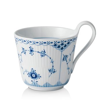 Royal Copenhagen - Blue Fluted Half Lace High Handle Mug