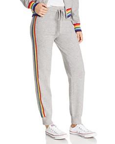 AQUA - Rainbow-Stripe Jogger Pants - 100% Exclusive