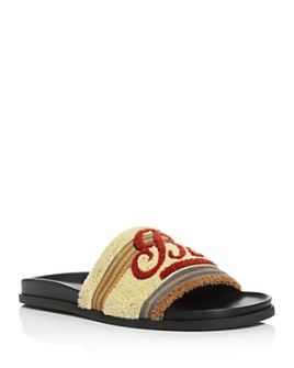 Bally - Men's Embroidered Slide Sandals