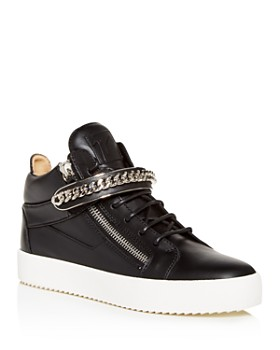Giuseppe Zanotti - Men's Chain-Embellished Mid-Top Sneakers