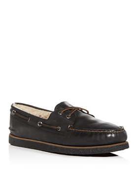 Sperry - Men's Authentic Original Two Eye Leather & Shearling Boat Shoes
