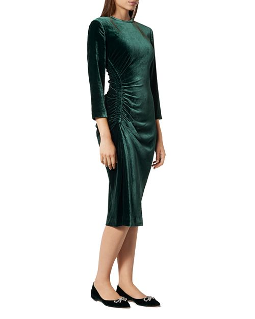 L.K.Bennett - Izzy Ruched Velvet Dress