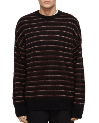 Bretley Striped Crewneck Sweater by Allsaints