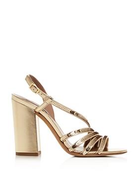 Tabitha Simmons - Women's Viola Sequin Strappy High Block-Heel Sandals