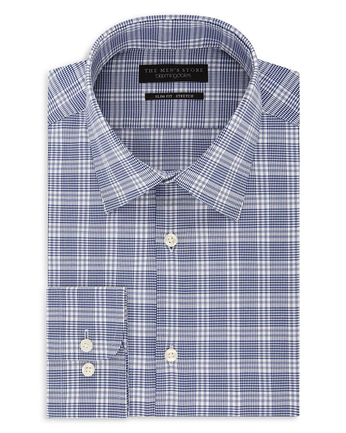 The Men's Store at Bloomingdale's - Glen Plaid Slim Fit Dress Shirt - 100% Exclusive