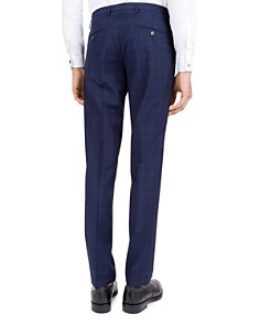 The Kooples - Hidden Lines Checked Wool Slim Fit Trousers