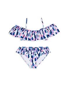 kate spade new york - Girls' Off-the-Shoulder 2-Piece Swimsuit - Little Kid