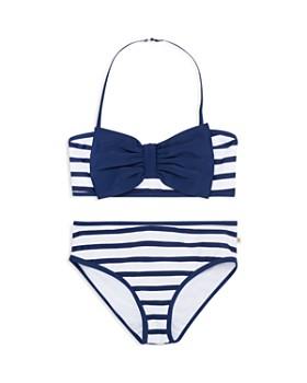 kate spade new york - Girls' Georgica Bow Striped 2-Piece Swimsuit - Little Kid